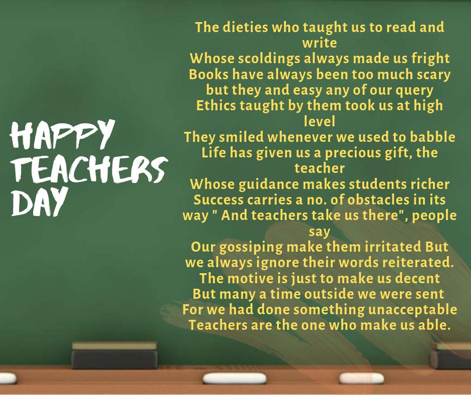 An Ode to Teachers!