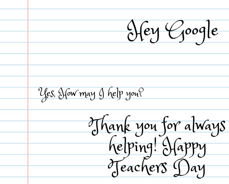Happy Teacher's Day to the Modern age Teacher!